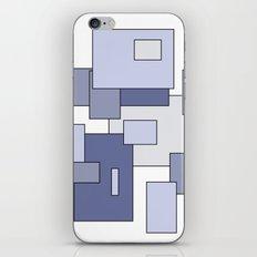 Squares - blue. iPhone & iPod Skin