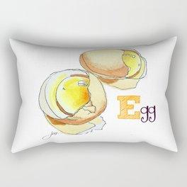 E is for Egg Rectangular Pillow