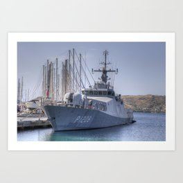 Turkish Navy Tuzla Class Patrol Boat Art Print