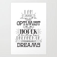 Doctor Who - Optimist Art Print