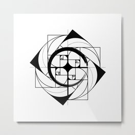 FIBONACCI SEQUENCE Metal Print