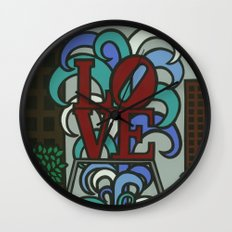 pop LOVE park Wall Clock