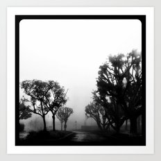 Morning fog. Art Print