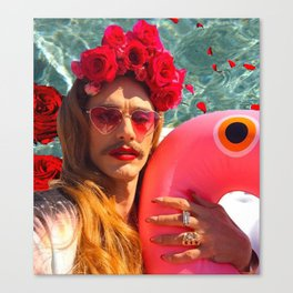 Selfies By The Pool James Franco Fan Art Canvas Print