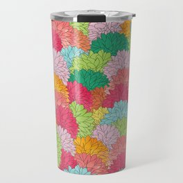 Hydrangea Haven Bright Summer Floral Travel Mug