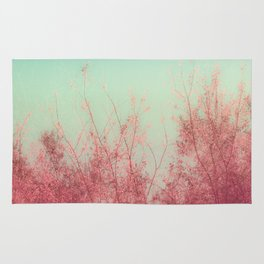 Harmony (Mint Blue Sky, Coral Pink Plants) Rug