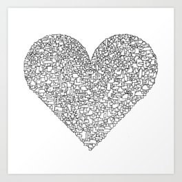 FRAGMENTS OF (Y)OUR LOVE Art Print