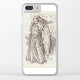 Shield Maiden of Avalon Clear iPhone Case