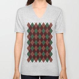 Vintage Christmas Sweater Unisex V-Neck