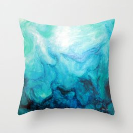 Deep Diver Throw Pillow
