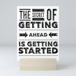 Start phrase motivational quote Mini Art Print