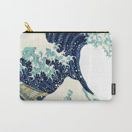 Rubino One World Great Wave Japanese Print Carry-All Pouch