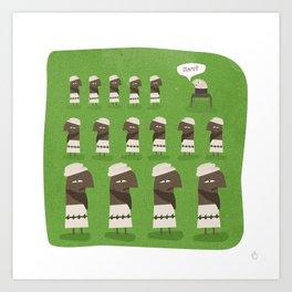 Osama Bin Laden - Has Bin Art Print