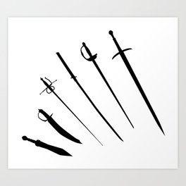 Sword Silhouettes Art Print