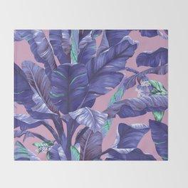 Banana Leaf love Throw Blanket