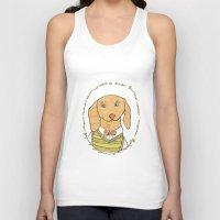 dachshund Tank Tops featuring Dachshund by MariyArti