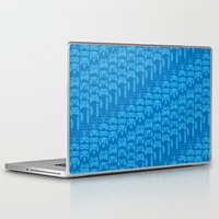 video game Laptop & iPad Skins featuring Video Game Controllers - Blue by C.Rhodes Design