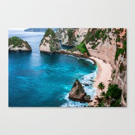 Tropical Island Cove Sea Canvas Print