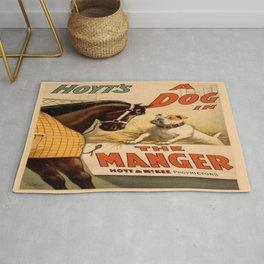 Vintage poster - A Dog in the Manger Rug