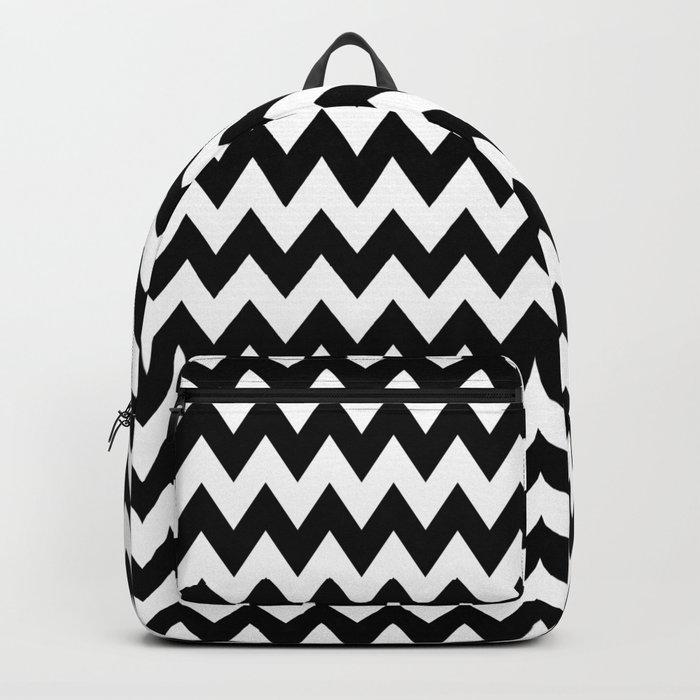 Black White Chevron Backpack