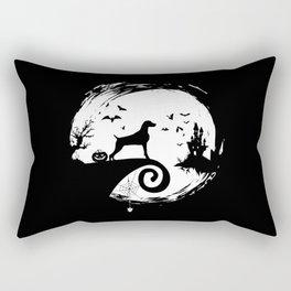 Vizsla Halloween Costume Moon Silhouette Creepy Rectangular Pillow