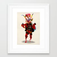 diablo Framed Art Prints featuring diablo by Alvaro Tapia Hidalgo