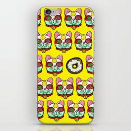 Good Luck Dizzy Cat Odyssey by Donut Matter iPhone Skin