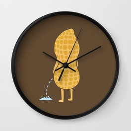 Peenut (brown) Wall Clock