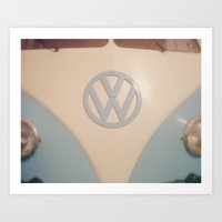 volkswagon Art Prints featuring VW Happiness by ShadeTree Photography