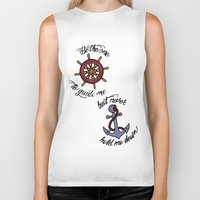 larry stylinson Biker Tanks featuring Helm and Anchor. (Larry Stylinson) by Arabella