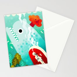 Whale and Pinocchio Stationery Cards