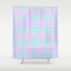 Gingham purple and teal Shower Curtain