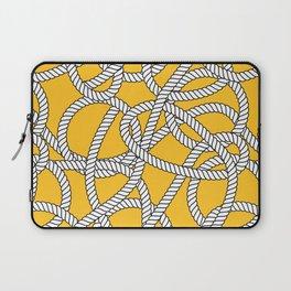 Nautical Yellow Rope Pattern Repeat Laptop Sleeve