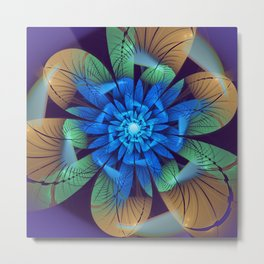 Floral fantasy, fractal abstract Metal Print