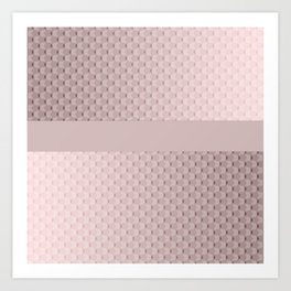 Pink mother of pearl Art Print