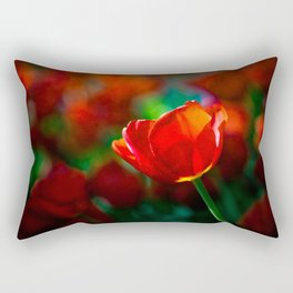 Red tulip - Mystery of blooming Rectangular Pillow