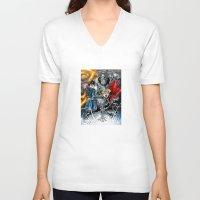 fullmetal V-neck T-shirts featuring Fullmetal Alchemist by MarioRojas