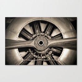 Aviation Decor, Vintage Propeller, Airplane Art Canvas Print