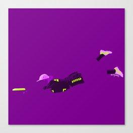 Purple Minimalist Frisbee Champion Canvas Print