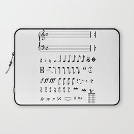 Musical Notation Laptop Sleeve
