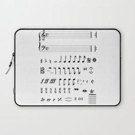 Musical Notation Laptop Sleeve