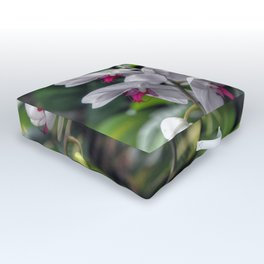 Tropical Orchids Outdoor Floor Cushion