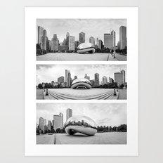 Chicago Triptik Cloud  Art Print