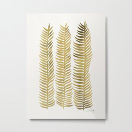 Golden Seaweed Metal Print