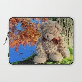 autumn reflections with teddy bear Laptop Sleeve