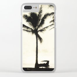 Antique Model-T on the Beach at Waikiki Clear iPhone Case