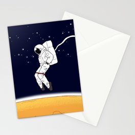 Astronaut Moonwalk Stationery Cards
