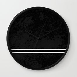Infinite Road - Black And White Abstract Wall Clock