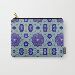 Samarkand Kaleidoscope in Blue Carry-All Pouch