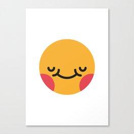 Emojis: Blush Canvas Print